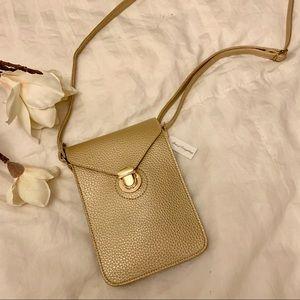 Gold Cross Body Bag